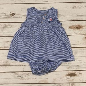 Carter's Blue and White Striped 9 Months Outfit